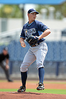 Tampa Bay Rays pitcher Hyrum Formo (82) during an Instructional League game against the Minnesota Twins on September 16, 2014 at Charlotte Sports Park in Port Charlotte, Florida.  (Mike Janes/Four Seam Images)