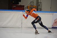SCHAATSEN: LEEUWARDEN, 22-10-2016, Elfstedenhal,  KNSB Trainingswedstrijden, Aron Romeijn, ©foto Martin de Jong