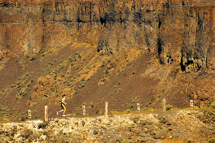 Running up the hill from the Columbia River, Frenchman Coulee, WA.
