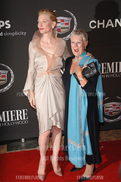 Actresses CATE BLANCHETT (left) & DAME JUDI DENCH at the 13th Annual Premiere Magazine Women in Hollywood gala at the Beverly Hills Hotel..September 20, 2006  Los Angeles, CA.© 2006 Paul Smith / Featureflash