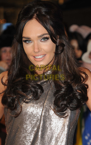 Tamara Ecclestone .arriving at the UK premiere for 'The Twilight Saga: Breaking Dawn - Part One' at the Westfield East Shopping Centre, Stratford City, London, UK,.16th November 2011..portrait headshot silver  sequined sequin make-up smiling beauty .CAP/WIZ.© Wizard/Capital Pictures.