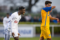 Rodel Richards of Spurs U19 celebrates scoring his goal during the UEFA Youth League match between Tottenham Hotspur U19 and Apoel Nicosia (APOEL) at Tottenham Hotspur Training Ground, Hotspur Way, England on 6 December 2017. Photo by Andy Rowland.