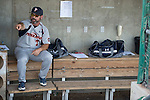 May 24, 2014; Stockton, CA, USA; Pepperdine Waves head coach Steve Rodriguez during the WCC Baseball Championship at Banner Island Ballpark.