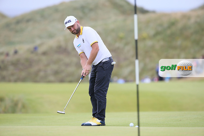 Andy Sullivan (ENG) in action at the 7th during Round One of the Dubai Duty Free Irish Open 2017 Hosted by the Rory Foundation, at Portstewart Golf Club, Derry, Northern Ireland.  06/07/2017. Picture: David Lloyd | Golffile.<br /> <br /> Images must display mandatory copyright credit - (Copyright: David Lloyd | Golffile).