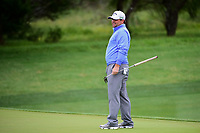 Jonathan Randolph (USA) reacts to missing his putt on 2  during round 3 of the Valero Texas Open, AT&amp;T Oaks Course, TPC San Antonio, San Antonio, Texas, USA. 4/22/2017.<br /> Picture: Golffile | Ken Murray<br /> <br /> <br /> All photo usage must carry mandatory copyright credit (&copy; Golffile | Ken Murray)