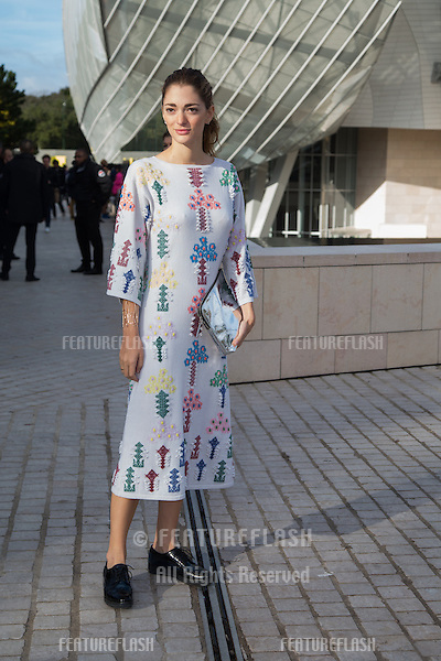 Sofia Sanchez Barrenechea attend Louis Vuitton Show Front Row - Paris Fashion Week  2016.<br /> October 7, 2015 Paris, France<br /> Picture: Kristina Afanasyeva / Featureflash
