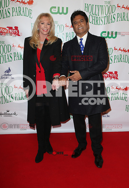 HOLLYWOOD, CA - NOVEMBER 26: Laura McKenzie, Erik Estrada, at 86th Annual Hollywood Christmas Parade at Hollywood Blvd in Hollywood, California on November 26, 2017. Credit: Faye Sadou/MediaPunch /NortePhoto NORTEPHOTOMEXICO