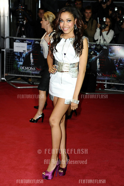 Dionne Bromfield arriving for the 'Demons Never Die' premiere at the Odeon West End, Leicester Square, London. 10/10/2011 Picture by: Steve Vas / Featureflash