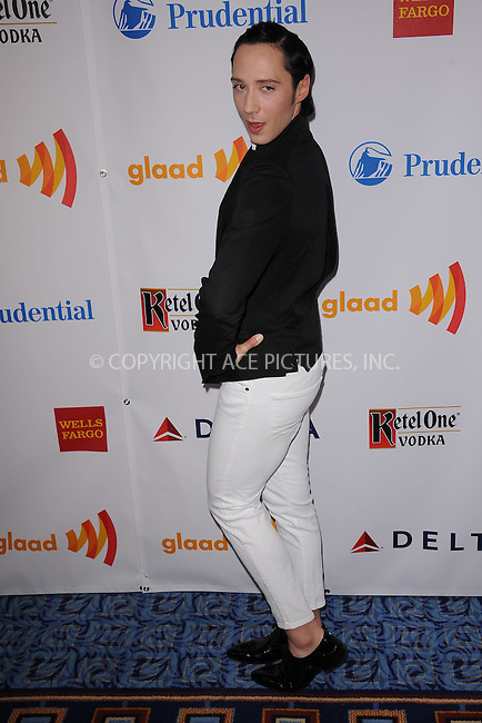 WWW.ACEPIXS.COM . . . . . .March 24, 2012...New York City....Johnny Weir attends the 23rd Annual GLAAD Media Awards at the Marriot Marquis Hotel on March 24, 2012  in New York City ....Please byline: KRISTIN CALLAHAN - ACEPIXS.COM.. . . . . . ..Ace Pictures, Inc: ..tel: (212) 243 8787 or (646) 769 0430..e-mail: info@acepixs.com..web: http://www.acepixs.com .