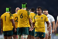 Will Genia of Australia looks on. Rugby World Cup Pool A match between England and Australia on October 3, 2015 at Twickenham Stadium in London, England. Photo by: Patrick Khachfe / Onside Images
