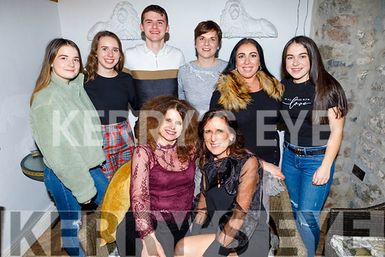 Enjoying the evening in Bella Bia on Friday.<br /> Seated l to r: Noreen O'Connor and Catherine Moynihan.<br /> Back l to r: Melissa Ahern, Alison Butler, John O'Connor, Noreen Ahern, Theresa and Nicole Walker