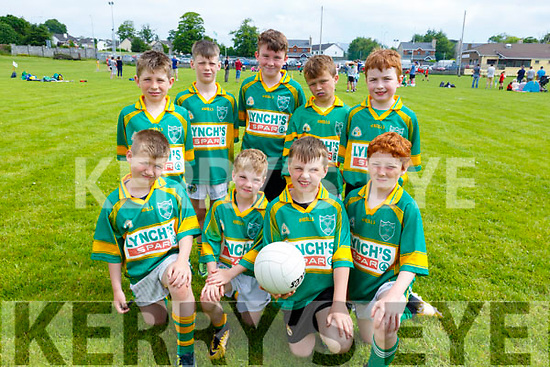 Castlegregory team that took part in the Community GAA Football games in Na Gaeil on Monday. Fionn and Joey O'Connell, Padraig O'Connor, Colm Courtney Smith and Michael Keane. Standing L to r: Robert Keane, Tadgh Donovan, Rory Shanahan, Mikey O'Leary and Barry Henedhan.