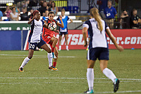 Portland, OR - Saturday July 22, 2017: Cheyna Williams, Emily Menges during a regular season National Women's Soccer League (NWSL) match between the Portland Thorns FC and the Washington Spirit at Providence Park.