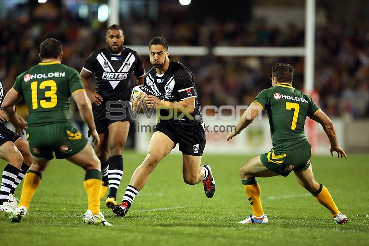 Kangaroos v Kiwis. ANZAC League Test. Canberra Stadium, Canberra, Australia. Friday 19 April 2013. Photo: Paul Seiser/Photosport.co.nz