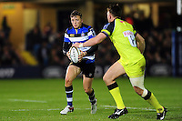 Darren Atkins of Bath Rugby in possession. Anglo-Welsh Cup match, between Bath Rugby and Leicester Tigers on November 4, 2016 at the Recreation Ground in Bath, England. Photo by: Patrick Khachfe / Onside Images