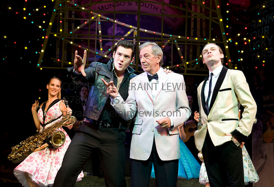Dreamcoats and Petticoats by Laurence Marks and Maurice Gran. With  Sam Attwater as Norman, Des O'Connor as Older Bobbie, Scott Bruton as Bobby, . Performing at The Playhouse Theatre  . CREDIT Geraint Lewis