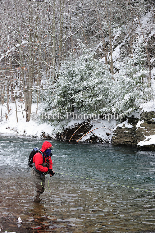 Toby Thompson winter trout fishing,Fishing Creek Pa.