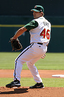 May 8, 2005:  Pitcher Jason Bere of the Buffalo Bisons during a game at Dunn Tire Park in Buffalo, NY.  Buffalo is the International League Triple-A affiliate of the Cleveland Indians.  Photo by:  Mike Janes/Four Seam Images