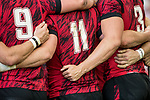 The Welsh team during the match Wales vs Samoa, Day 2 of the HSBC Singapore Rugby Sevens as part of the World Rugby HSBC World Rugby Sevens Series 2016-17 at the National Stadium on 16 April 2017 in Singapore. Photo by Victor Fraile / Power Sport Images