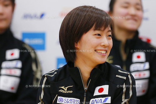 Kasumi Ishikawa (JPN), February 3, 2016 - Table Tennis : Japan national team attends press conference for 2016 World Table Tennis Championships at Ajinomoto National Training Center, Tokyo, Japan. (Photo by Yusuke NakanishiAFLO SPORT)