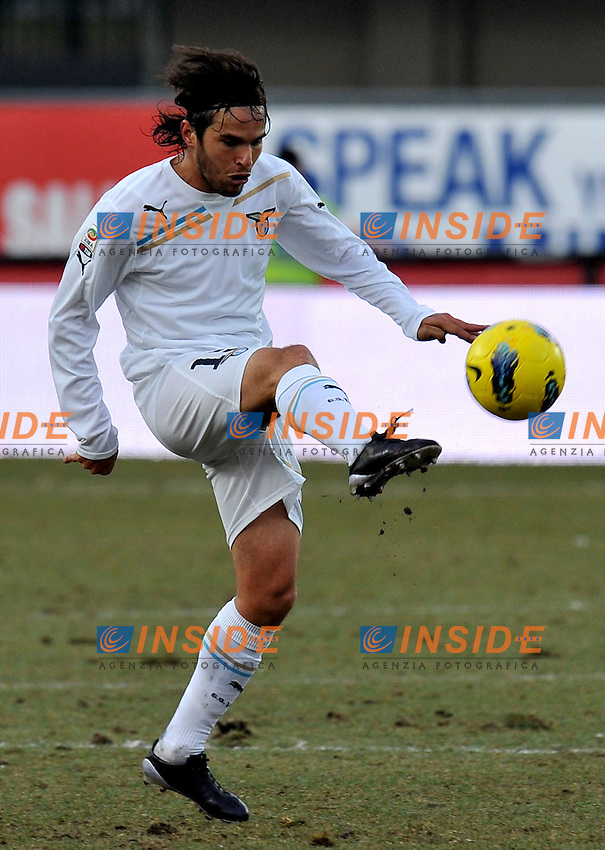 """Alvaro GONZALEZ (Lazio).Verona 29/1/2012 Stadio """"Bentegodi"""".Serie A 2011/2012.Football Calcio Chievo Verona Vs Lazio.Foto Insidefoto Alessandro Sabattini."""