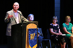Western Nevada College Dean of Student Services John Kinkella speaks at a ceremony as more than 100 students received their High School Equivalency during a Western Nevada College ceremony in Carson City, Nev., on Monday, June 19, 2017. <br /> Photo by Cathleen Allison/Nevada Photo Source