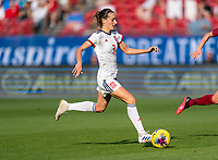 FRISCO, TX - MARCH 11: Ainhoa Maraza #3 of Spain dribbles during a game between England and Spain at Toyota Stadium on March 11, 2020 in Frisco, Texas.