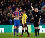 Watford's Tom Cleverley looks on dejected after getting sent off during the premier league match at Selhurst Park Stadium, London. Picture date 12th December 2017. Picture credit should read: David Klein/Sportimage