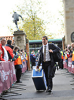 Twickenham, England. Australia head coach Robbie Deans arrives at the QBE international match between England and Australia for the Cook Cup at Twickenham Stadium on November 10, 2012 in Twickenham, England