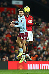 Jack Grealish of Aston Villa and Aaron Wan-Bissaka of Manchester United during the Premier League match at Old Trafford, Manchester. Picture date: 1st December 2019. Picture credit should read: Phil Oldham/Sportimage