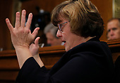 Prosecutor Rachel Mitchell questions professor Christine Blasey Ford, who has accused U.S. Supreme Court nominee Brett Kavanaugh of a sexual assault in 1982, during a Senate Judiciary Committee confirmation hearing for Kavanaugh on Capitol Hill in Washington, U.S., September 27, 2018. REUTERS/Jim Bourg