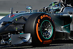Mercedes driver Nico Rosberg drives during a practice session at the Circuit de Catalunya on May 9, 2014. <br /> PHOTOCALL3000/PD