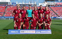 FRISCO, TX - MARCH 11: England poses for their starting XI photo during a game between England and Spain at Toyota Stadium on March 11, 2020 in Frisco, Texas.