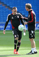 24.04.2012 SPAIN -  UEFA Champions League trining Bayern Munchen at Bernabeu stadium. The picture show Franck Ribery