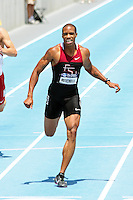 Maurice Mitchell approaches the finish line of the 200 meters final at the 2011 NCAA Division I Outdoor Track and Field Championships in Des Moines Iowa. Mitchell, a Florida State junior won the race in 19.99 seconds