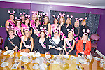 Mary Dillane, Newcastlewest, pictured with Noreen Downey, Amanda Griffin, Mary Doody, Eileen Sweeney, Tara O'Sullivan, Martina Curtin, Denise Meehan, Margaret Curtin, Marita Davis, Lisa Molyneaux, Noreen King, Margaret Lee, Patricia O'Mahony, Sheila Dee, Bridget Dillane, Christina Daly and Amanda Lenihan, as she celebrated her hen party in the Silver Fox Restaurant, Killarney on Saturday night ahead of her wedding on the 3rd November. ............................................................................................