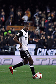 9th January 2018, Mestalla Stadium, Valencia, Spain; Copa del Rey football, round of 16, second leg, Valencia versus Las Palmas; Geoffrey Kongdobia controls a ball for Valencia CF during the game
