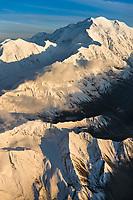 North Face Of Mt. Denali With Carpe And Pioneer Ridge On The Left, Denali National Park, Interior, Alaska.