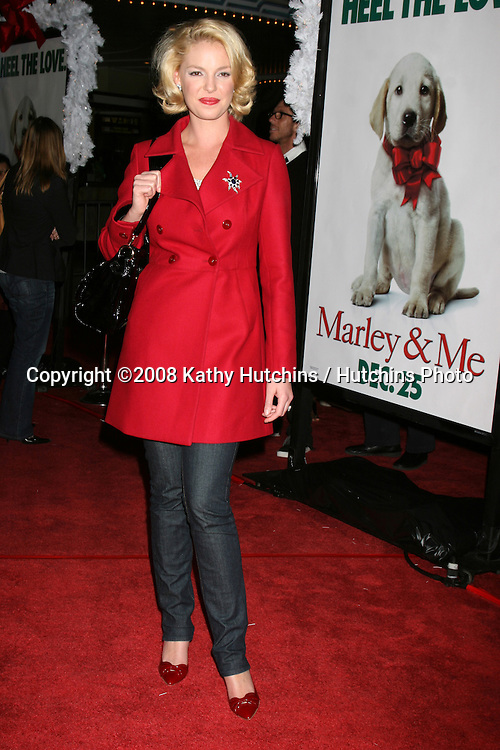 "Katherine Heigl arriving at the ""Marley & Me"" World Premiere at the Mann's Village Theater  in Westwood, CA  on December 11, 2008.©2008 Kathy Hutchins / Hutchins Photo....                ."