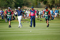Mike Lorenzo-Vera (FRA) and Sergio Garcia (ESP) during the 2nd round at the Nedbank Golf Challenge hosted by Gary Player,  Gary Player country Club, Sun City, Rustenburg, South Africa. 09/11/2018 <br /> Picture: Golffile | Tyrone Winfield<br /> <br /> <br /> All photo usage must carry mandatory copyright credit (&copy; Golffile | Tyrone Winfield)