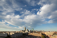 clouds & skyline from Northeastern University, Boston, MA