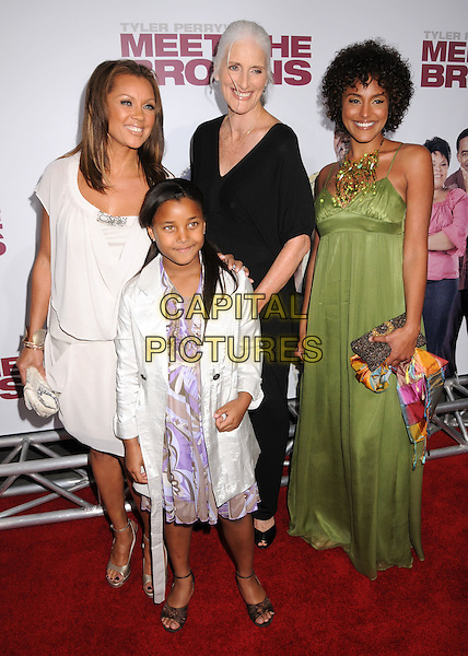 """VANESSA WILLIAMS, DAUGHTER & FAMILY.Tyler Perry's """"Meet The Browns"""" World Premiere at The Cinerama Dome, Hollywood, California, USA,.13 March 2008..full length.CAP/ADM/BP.©Byron Purvis/Admedia/Capital PIctures"""