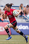Abigail Chan of Hong Kong runs in a try during the Asia Rugby U20 Sevens 2017 at King's Park Sports Ground on August 4, 2017 in Hong Kong, China. Photo by Yu Chun Christopher Wong / Power Sport Images