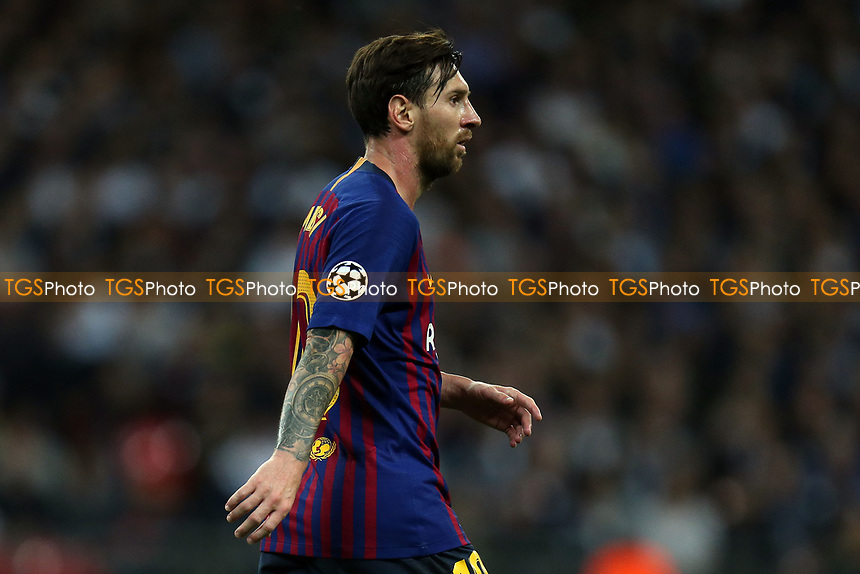 Lionel Messi of FC Barcelona during Tottenham Hotspur vs FC Barcelona, UEFA Champions League Football at Wembley Stadium on 3rd October 2018