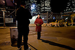 Media attention has started to shift towards the demands of the group Rosaleen represents. Here she is interviewed by Newsweek Online at the site of her vigil..A day in the life of Rosaleen Tallon, sister of firefighter Sean Tallon killed in the 9/11 World Trade Center attacks. In response to the proposed WTC memorial being built underground at the site, Ms. Tallon has been sleeping for 16 days in front of the fire house across from the WTC site. She and several other WTC families are protesting the memorial design and asking for the victim's names to be placed above ground for the sake of honoring the lives lost and safety concerns with any possible future evacuation of the site.