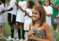 Young anthem singer during the WPS All-Star game at KSU Stadium in Kennesaw, Georgia on June 30 2010. Marta XI won 5-2.