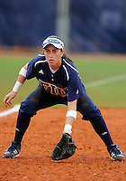 Florida International University infielder Jessy Alfonso (8) plays against the University of Louisville which won the game 4-2 on February 11, 2012 at Miami, Florida. .