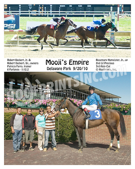 Mooji's Empire winning at Delaware Park on 9/20/10