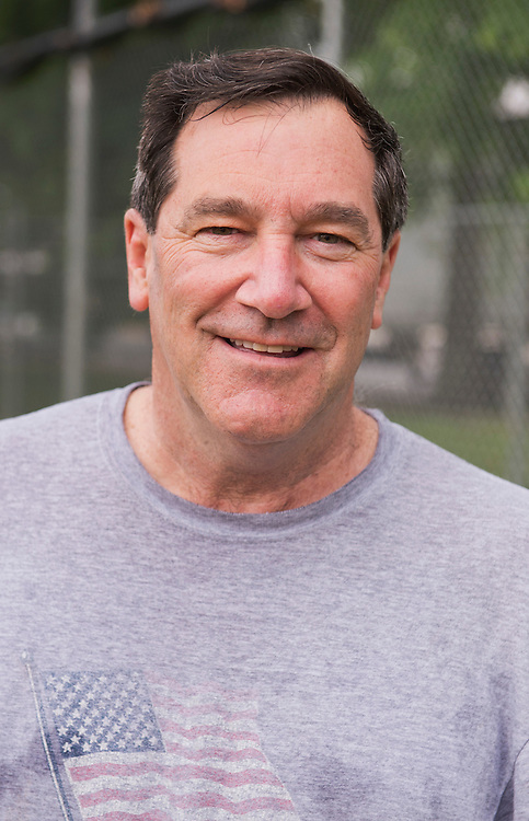 UNITED STATES - MAY 23: Sen. Joe Donnelly, D-Ind., is pictured at a democratic congressional baseball practice in Northeast. (Photo By Tom Williams/CQ Roll Call)