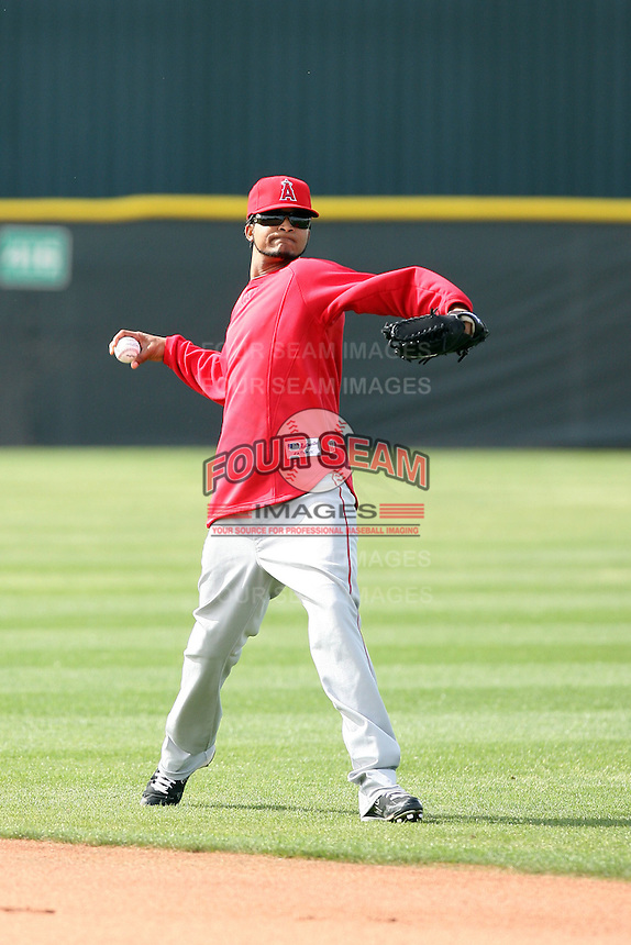 Ervin Santana. Los Angeles Angels spring training workouts at the Angels complex, Tempe, AZ - 02/24/2010.Photo by:  Bill Mitchell/Four Seam Images.